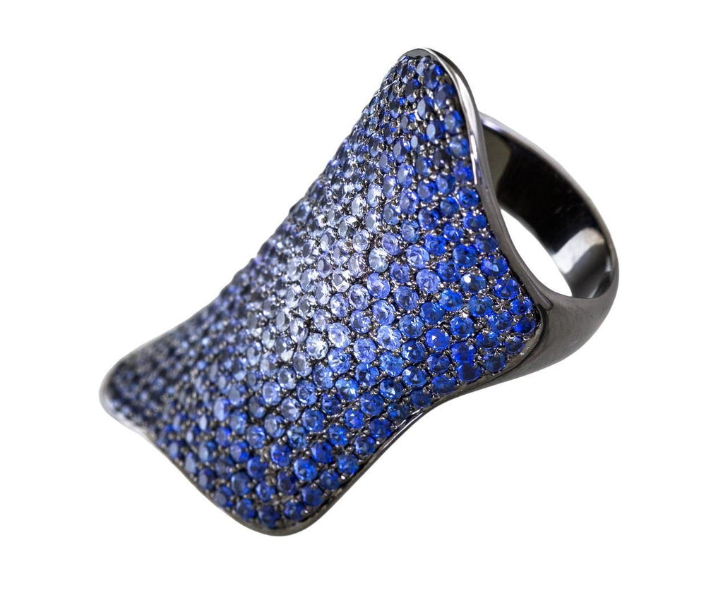 Ombre Blue Sapphire Armor Ring - TWISTonline