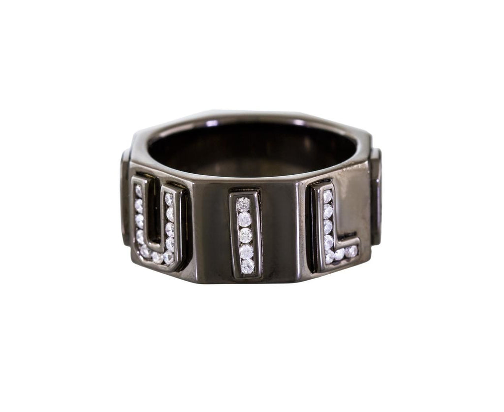 Diamond 'I Love You' Black Rhodium Band - TWISTonline