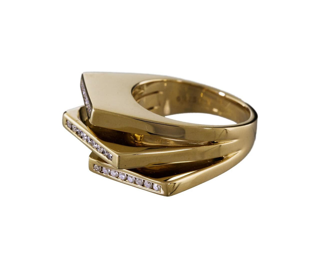 Diamond Stacked Deck Ring - TWISTonline