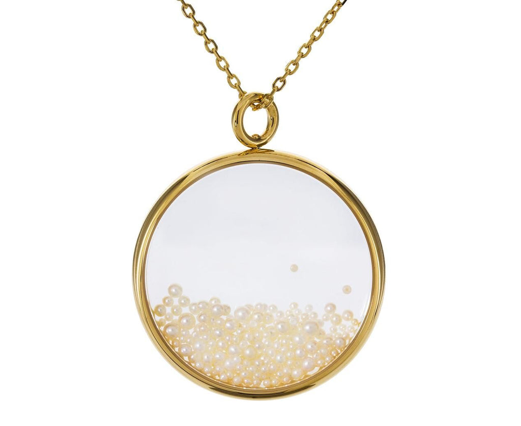 Tiny Pearl Chivor Pendant Necklace - TWISTonline