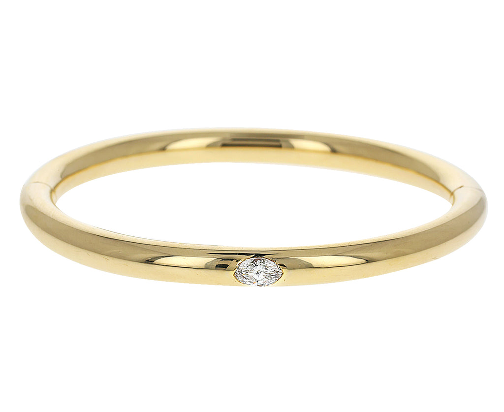 Gold and Marquise Diamond Bangle