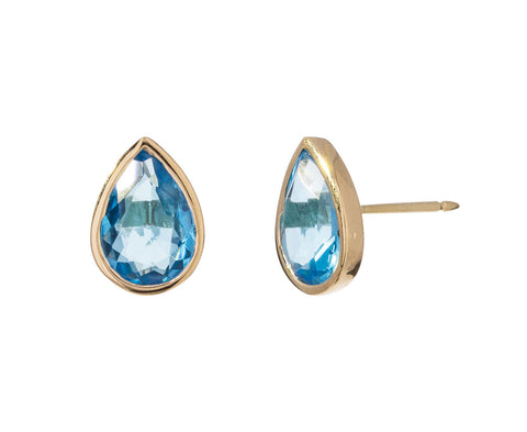 Blue Topaz Rain Drop Earrings