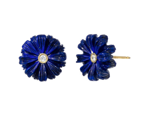 Wildflower Diamond Lapis Earrings
