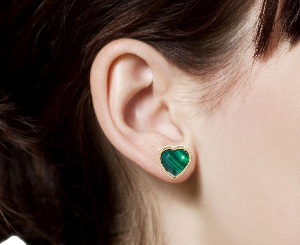 Small Malachite Puffy Heart Earrings zoom 8_brent_neale_gold_malachite_puff_heart_earrings