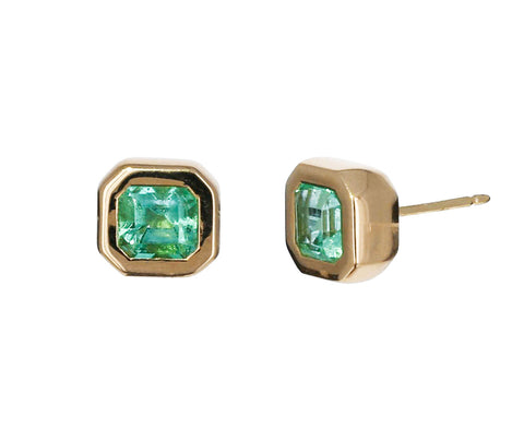 Emerald Gypsy Stud Earrings