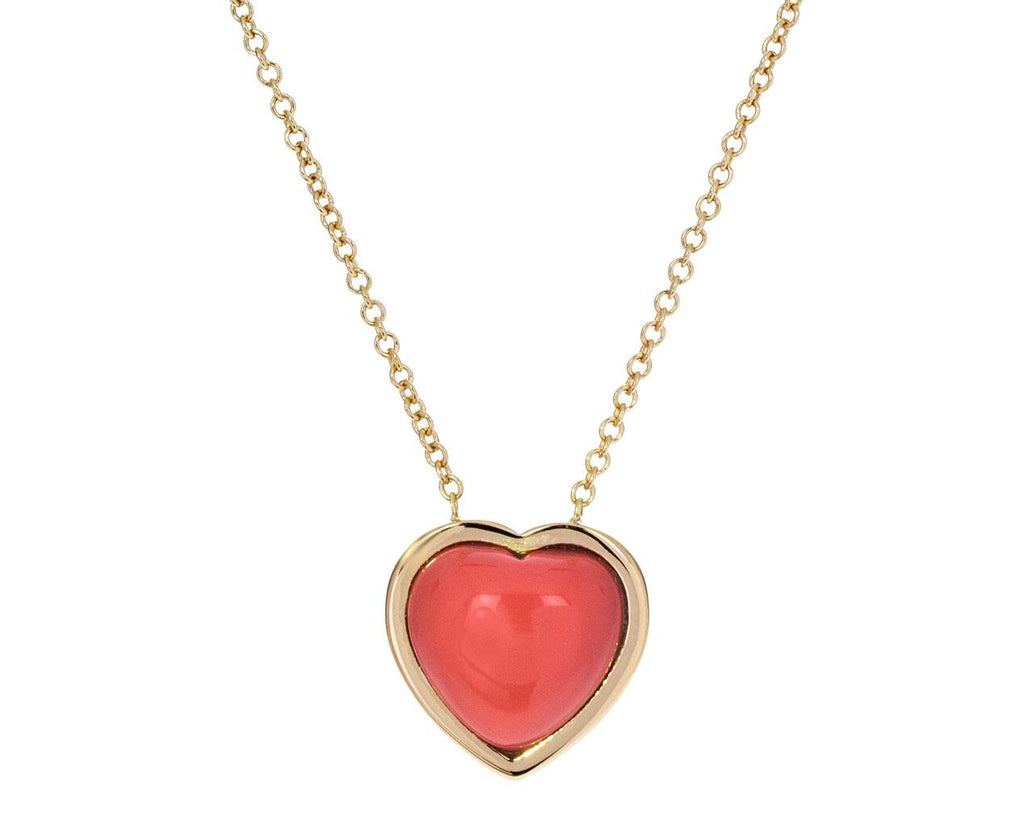 Small Natural Coral Puff Heart Necklace zoom 1_brent_neale_gold_coral_puff_heart_necklace