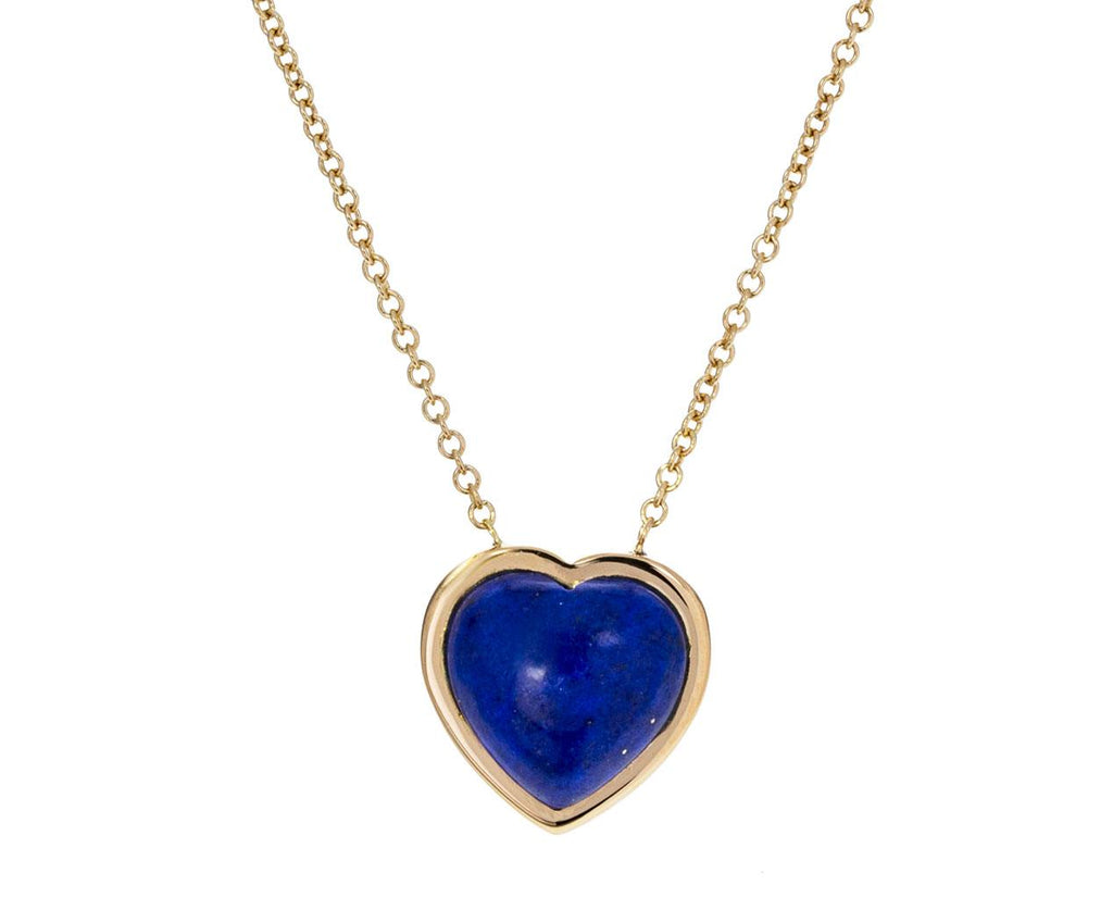 Small Lapis Puff Heart Necklace - TWISTonline