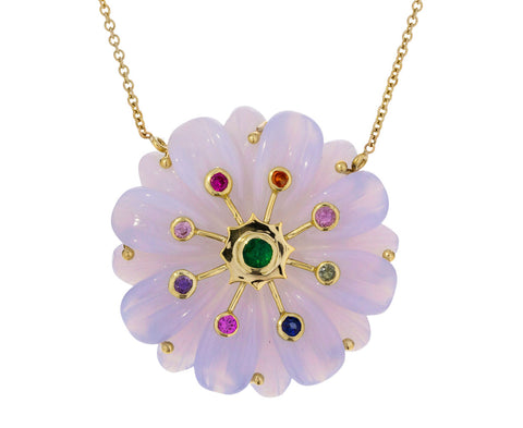 Large Multi Gem Sputnik Necklace - TWISTonline