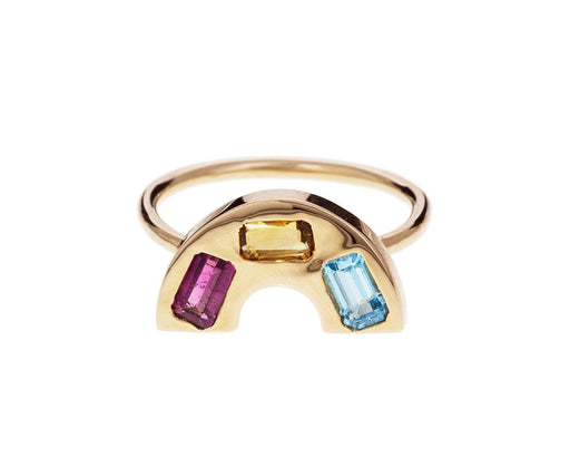 Multi Gem Rainbow Ring zoom 1_brent_neale_gold_rainbow_band_ring