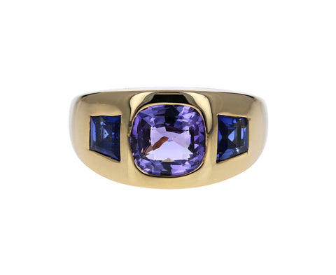 Multi Colored Sapphire Gypsy Ring