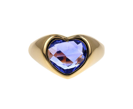 Pale Blue Sapphire Gypsy Heart Ring - TWISTonline