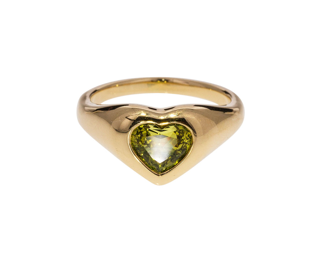 Green Sapphire Gypsy Heart Ring