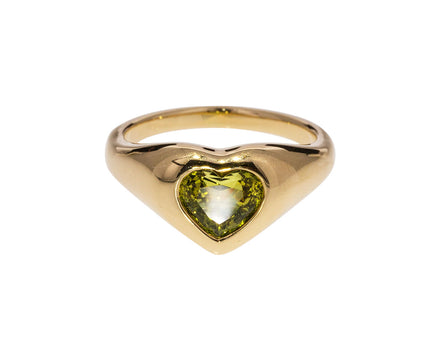 Green Sapphire Gypsy Heart Ring - TWISTonline