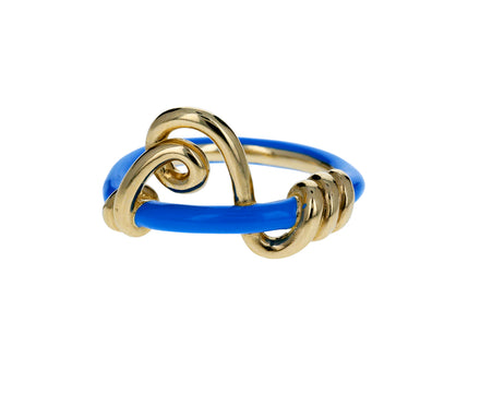Blue Enamel Wrapped Vine Ring - TWISTonline