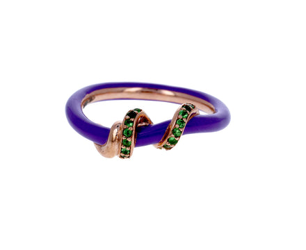 Purple Enamel and Tsavorite Vine Ring - TWISTonline