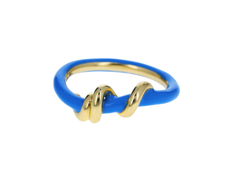 Blue Enamel Baby Vine Ring - TWISTonline