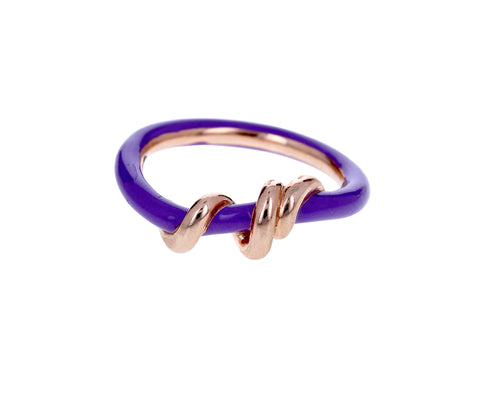 Purple Enamel Baby Vine Ring - TWISTonline