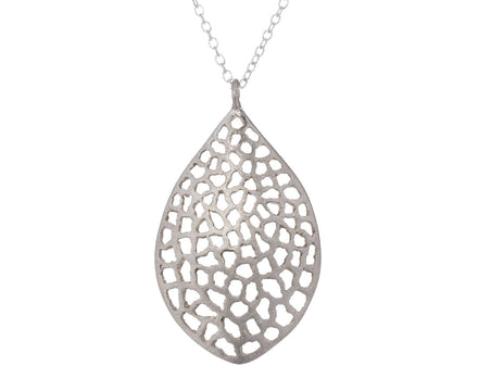 Large Lacy Leaf Necklace - TWISTonline