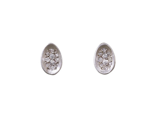 Diamond Pavé Egg Earrings - TWISTonline