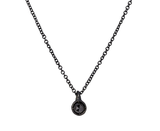 Silver Black Diamond Pendant Necklace - TWISTonline