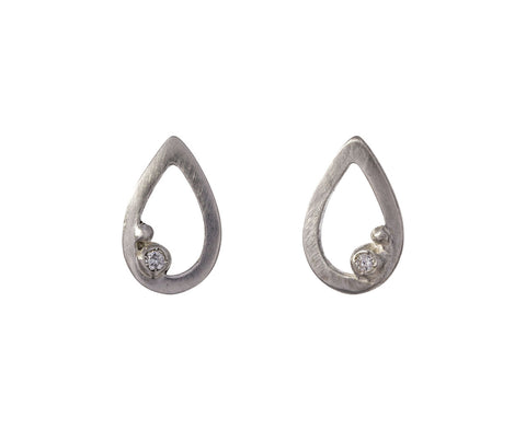 Encrusted Tear Drop Earrings - TWISTonline