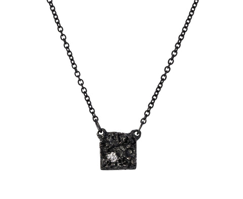 Chryseum Diamond Square Necklace - TWISTonline
