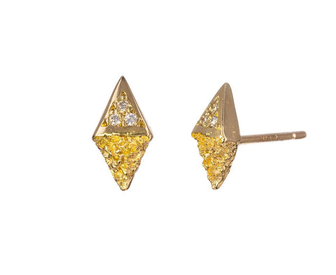 Gold Chryseum Kite Post Earrings zoom 1_branch_gold_diamond_chryseum_kite_earrings