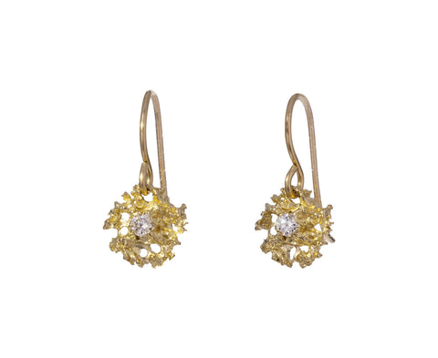 Gold Stellar Lichen Drop Earrings - TWISTonline