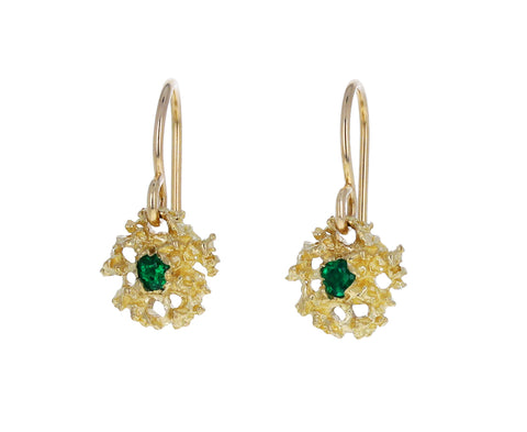 Emerald Star Earrings