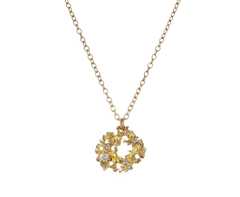 Gold Stellar Lichen Nebula Necklace - TWISTonline