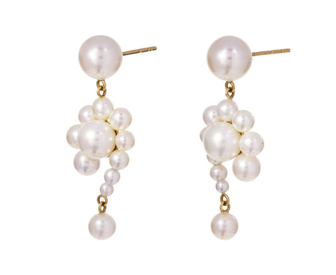 Pearl Escargot Earrings