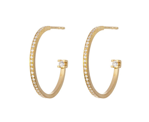 Petite Diamond Kelly Hoop Earrings zoom 1_sophie_bille_brahe_gold_diamond_petite_kelly_ear