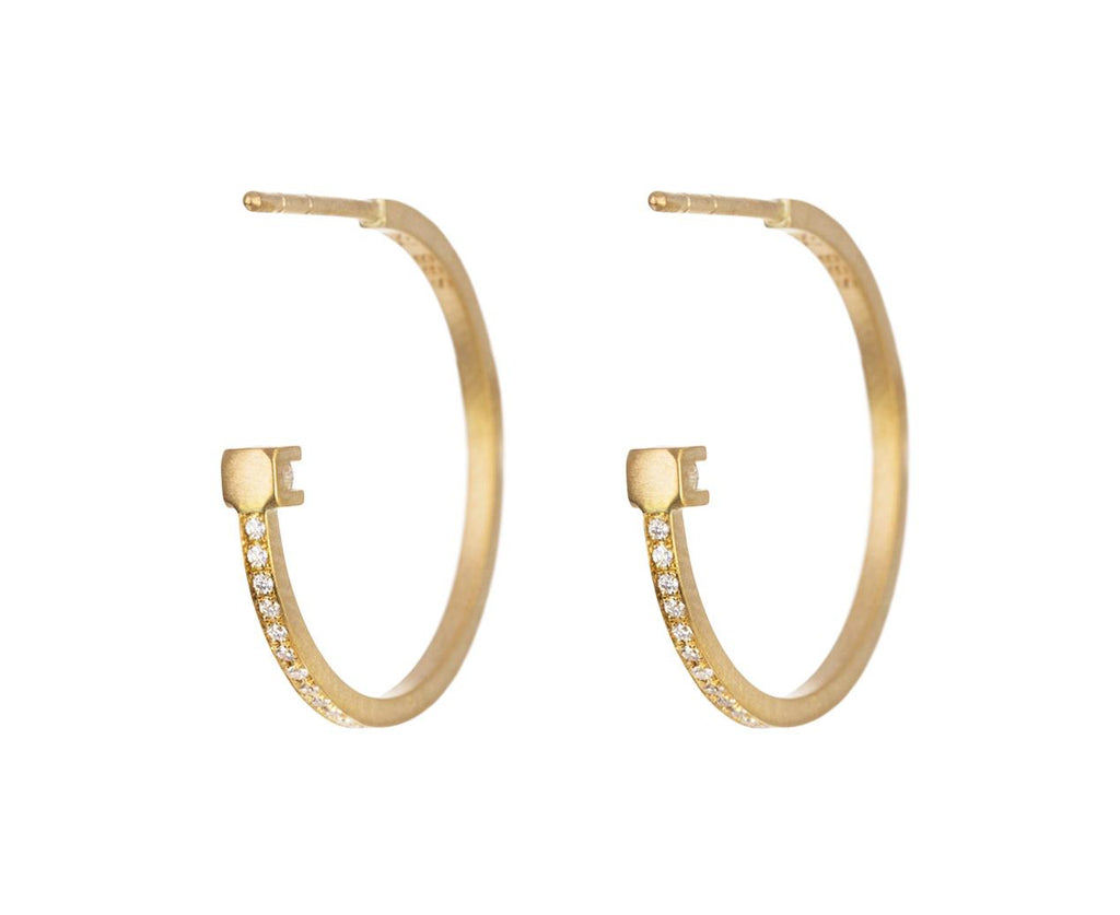 Petite Diamond Kelly Hoop Earrings - TWISTonline