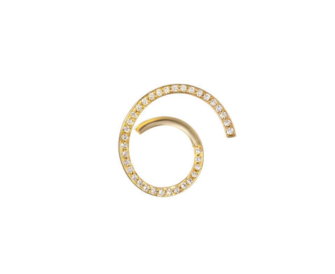 SINGLE Diamond Athene D'Or RIGHT Earring zoom 1_sophie_bille_brahe_gold_diamond_athene_dor_earri
