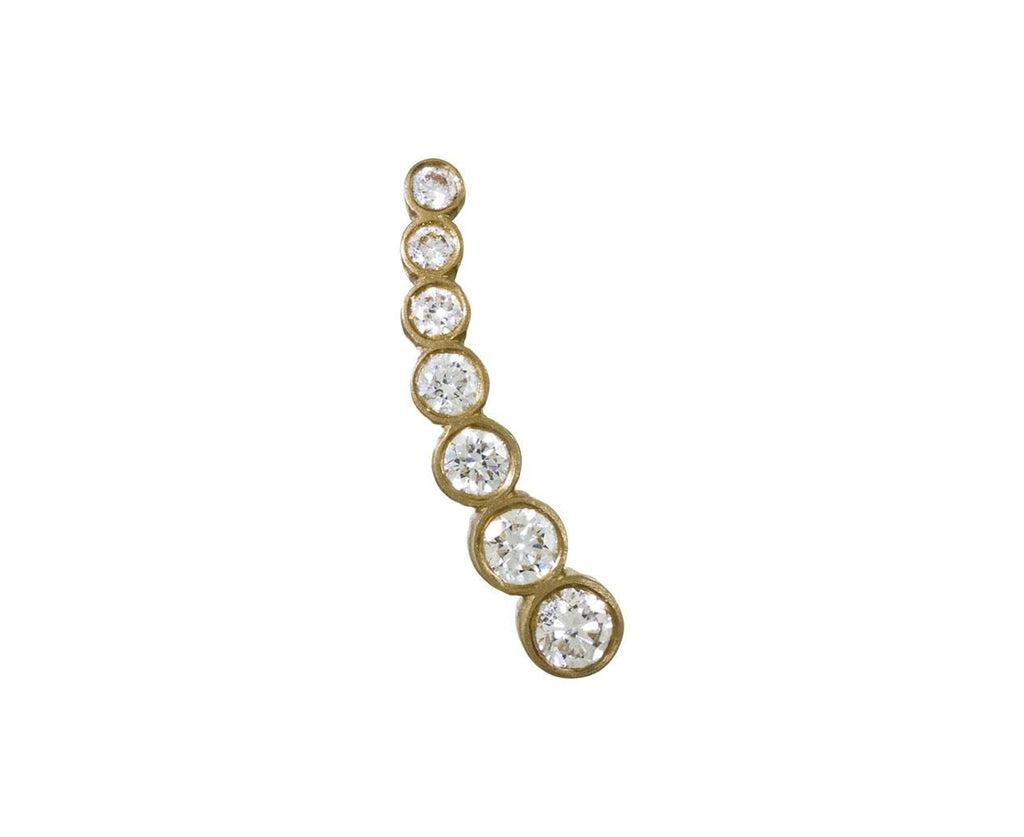 SINGLE Petite Croissant Diamond Lune Right Earring - TWISTonline
