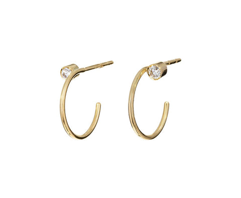 Diamond Simonetta Hoop Earrings - TWISTonline