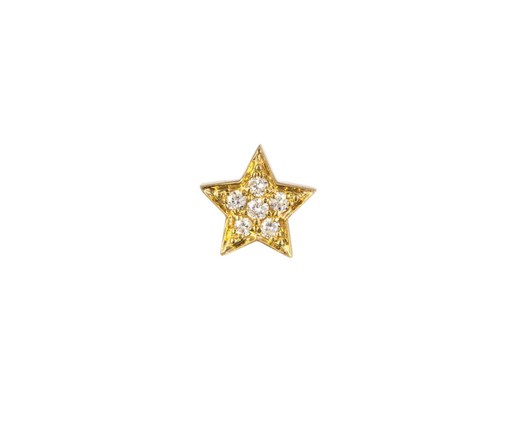 SINGLE Diamond Etoile Earring zoom 1_sophie_bille_brahe_gold_diamond_star_earring