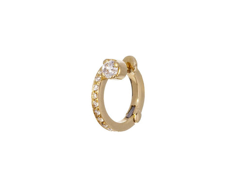 LEFT Petite Emilie Diamond SINGLE Hoop zoom 1_sophie_bille_brahe_gold_diamond_petite_emilie_ea