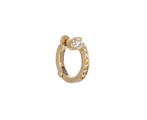 RIGHT Petite Emilie Diamond SINGLE Hoop zoom 1_sophie_bille_brahe_gold_diamond_petite_emilie_ea