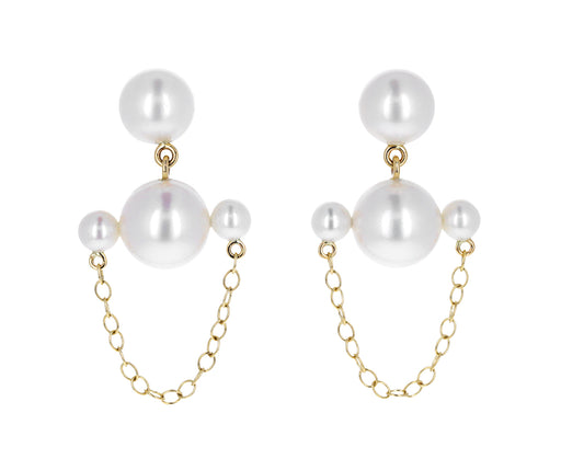 Pearl Lever du Soleil Chain Earrings