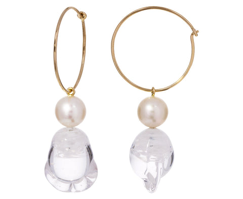 Glass and Pearl Verre Hoops
