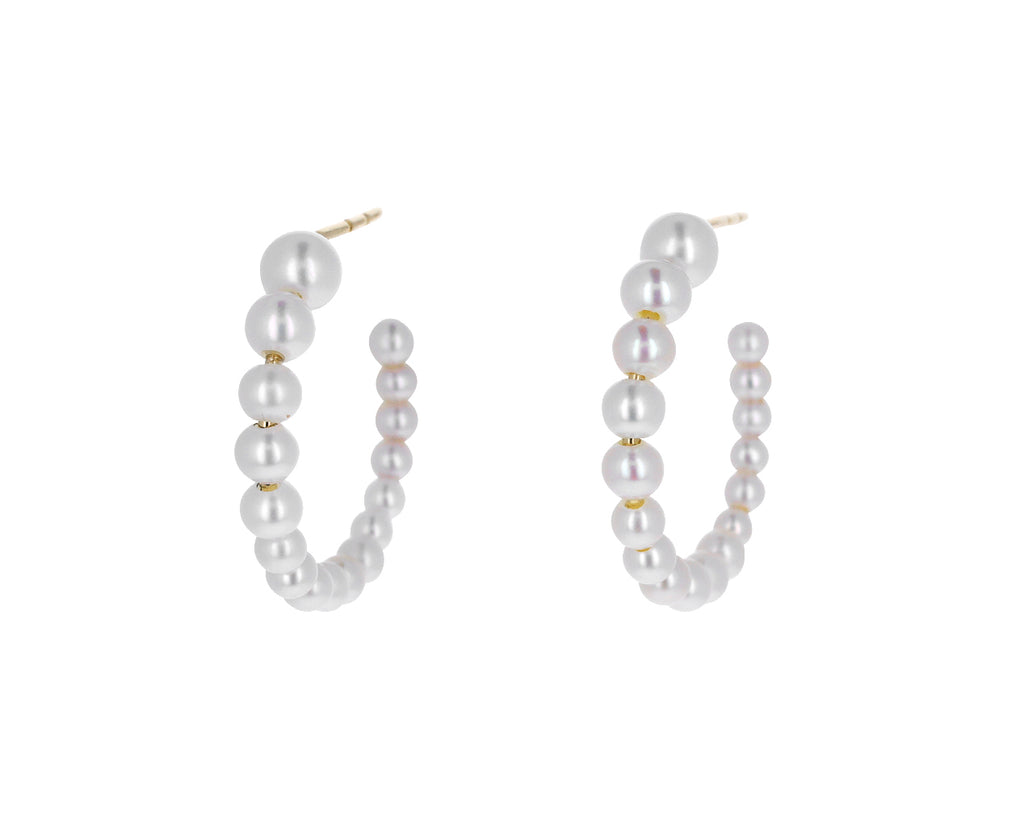 Boucle Marco Pearl Hoop Earrings