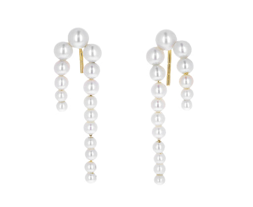 Petite Perle Nuit Pearl Waterfall Earrings