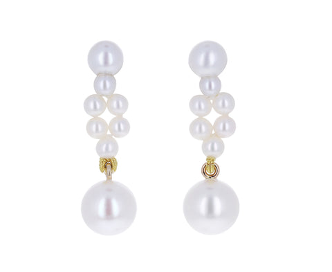 Petite Tresse Freshwater Pearl Earrings