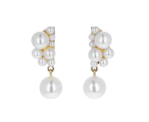 Petite Corail Pearl Earrings