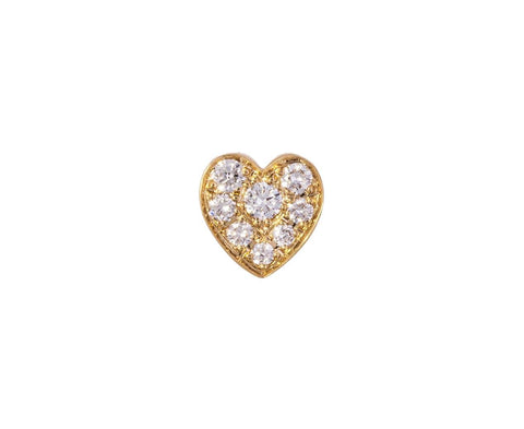 Petite Coeur Diamond SINGLE Earring zoom 1_sophie_bille_brahe_gold_diamond_coeur_stud_earri