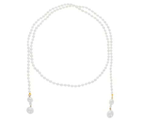 Peggy Guidecca Collier Pearl Shawl Necklace