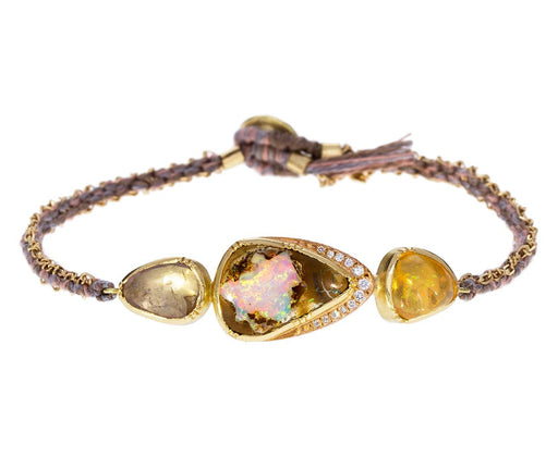 Opal and Sapphire Triple Orbit Bracelet - TWISTonline