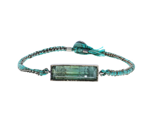 Green Tourmaline Bar Bracelet
