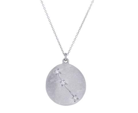 Platinum Aries Necklace